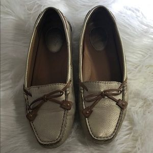 Clark's gold metallic during shoes flats size 6M